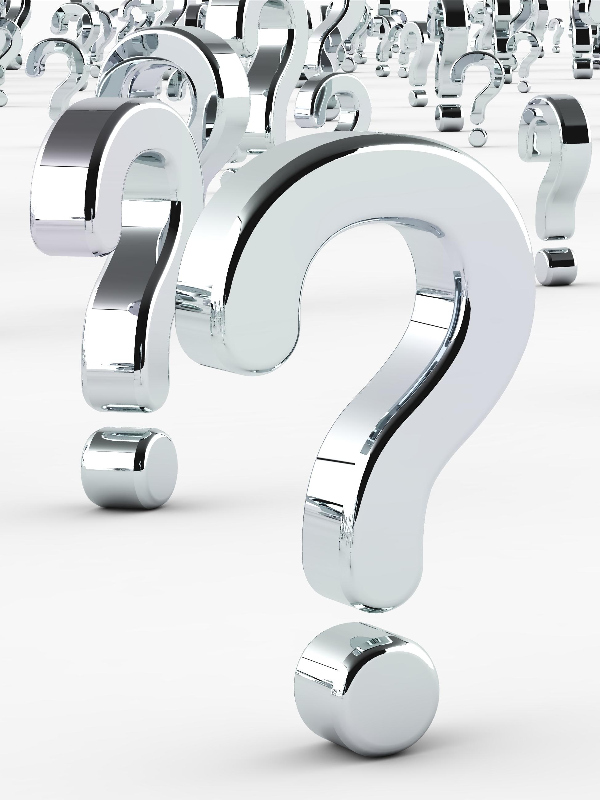 Frågetecken som symboliserar frågor du kan ha om kursen du är intresserad av.