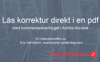 Läsa korrektur i en pdf