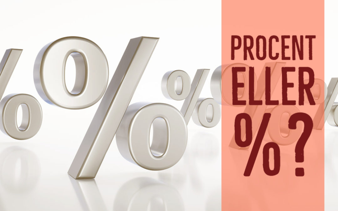 Procent eller procenttecken?
