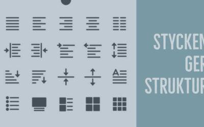 Styckeindelning ger texten struktur