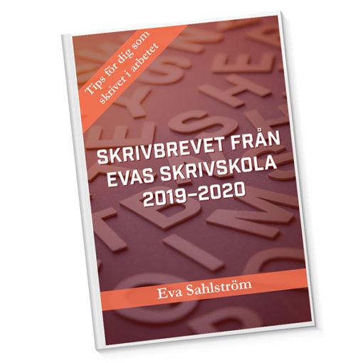 Omslagsbild Skrivbrevet från Evas skrivskola 2019-2020